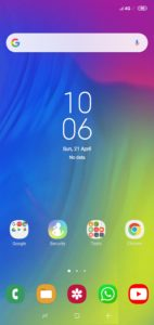Samsung Theme MainScreen By TechRushi