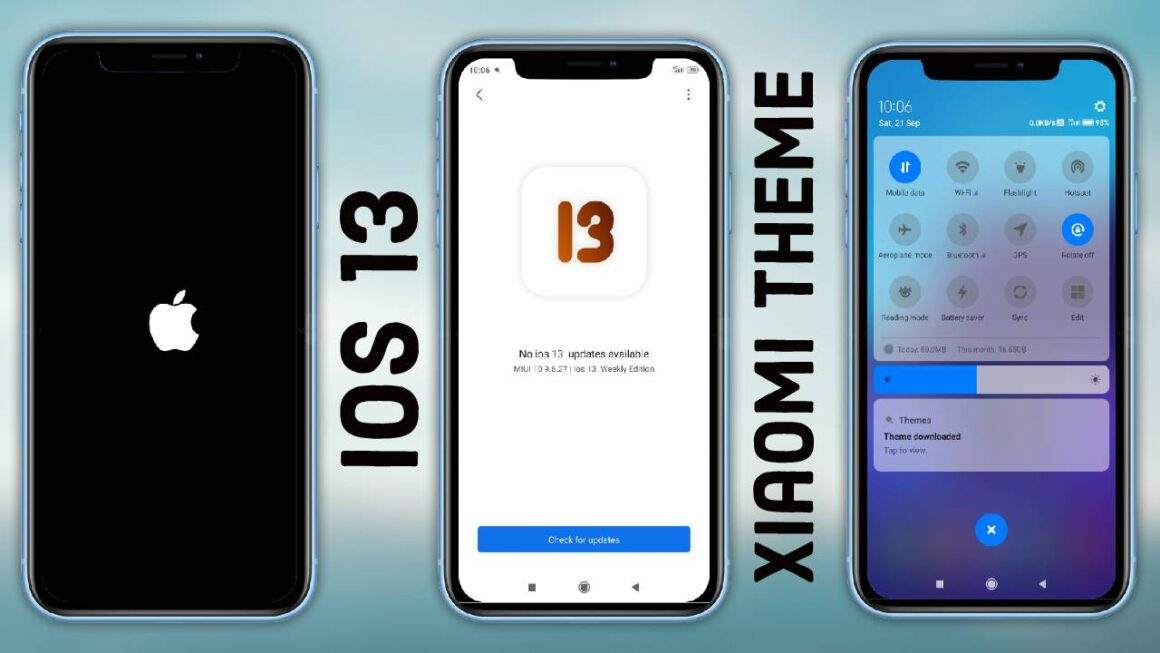 iOS 13 themes for xiaomi devices