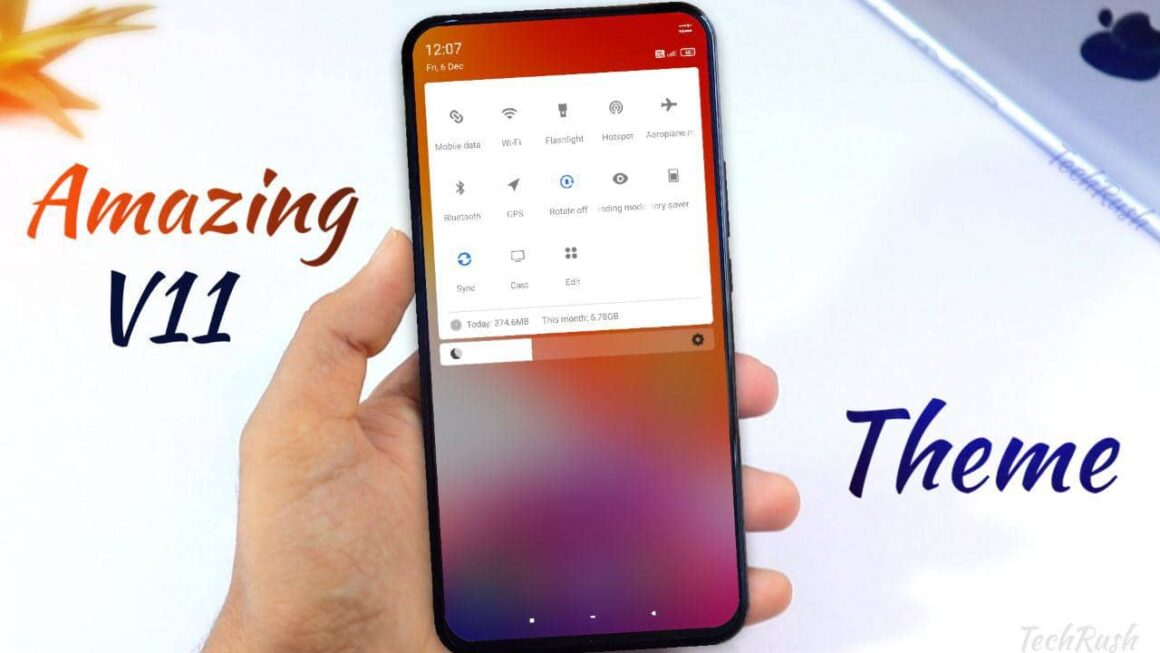the style v11 theme for miui 11 on techrushi