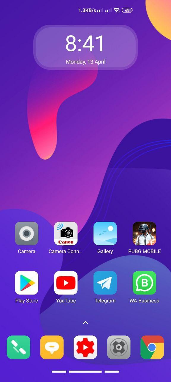 Abstract Wave MiUi 11 Xiaomi Themes home screen