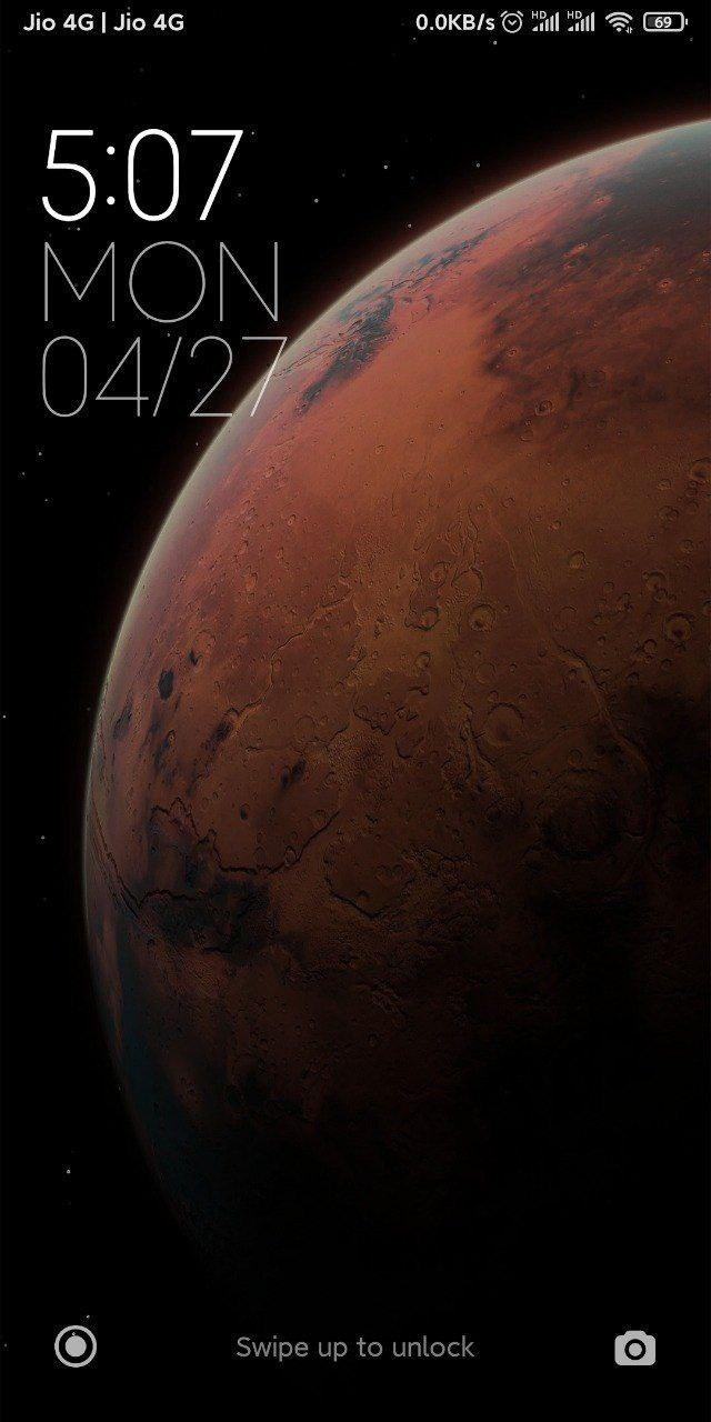 MiUi 12 Super Live Wallpaper With New Clock Style