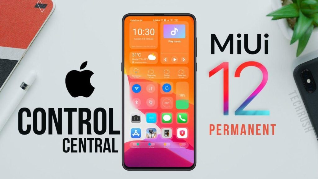 iOS Control Center MiUi 12 LITE MIX Xiaomi theme