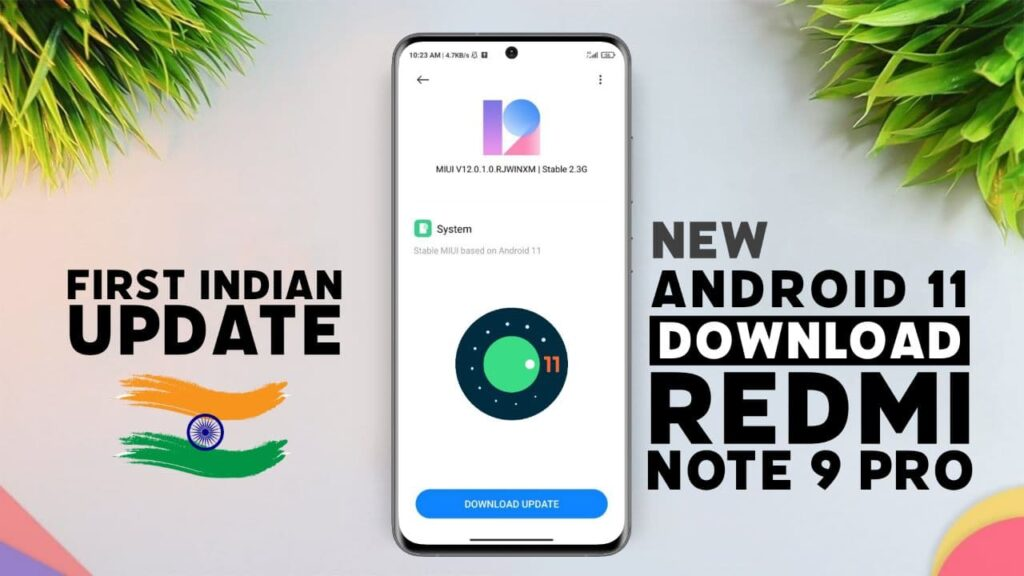 Redmi Note 9 PRO Android 11 Update Download