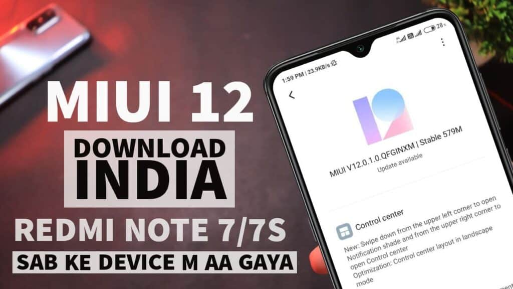 Redmi Note 7/7S download miui 12