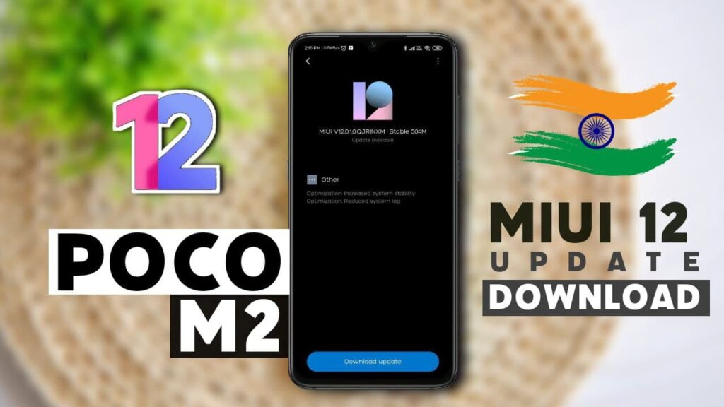 poco m2 download miui 12 update