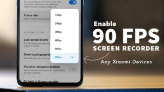 90 FPS Xiaomi