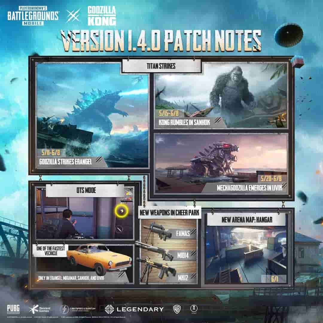 pubg mobile 1.4 update patch note
